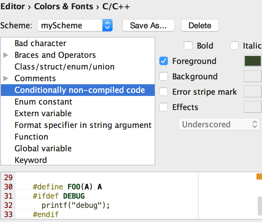 Editor Customization with Themes & Fonts - Features   CLion