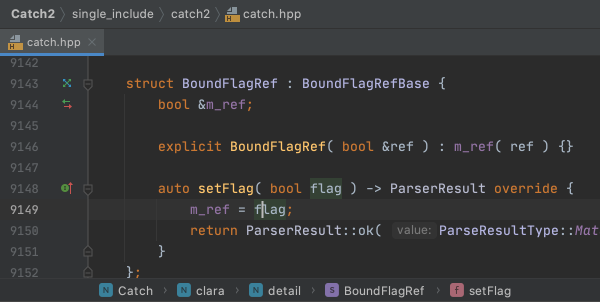 Code assistance screenshot