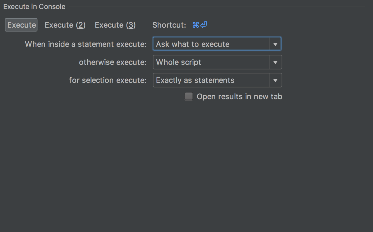 Running queries: read-only mode, history, explain plan, SQL