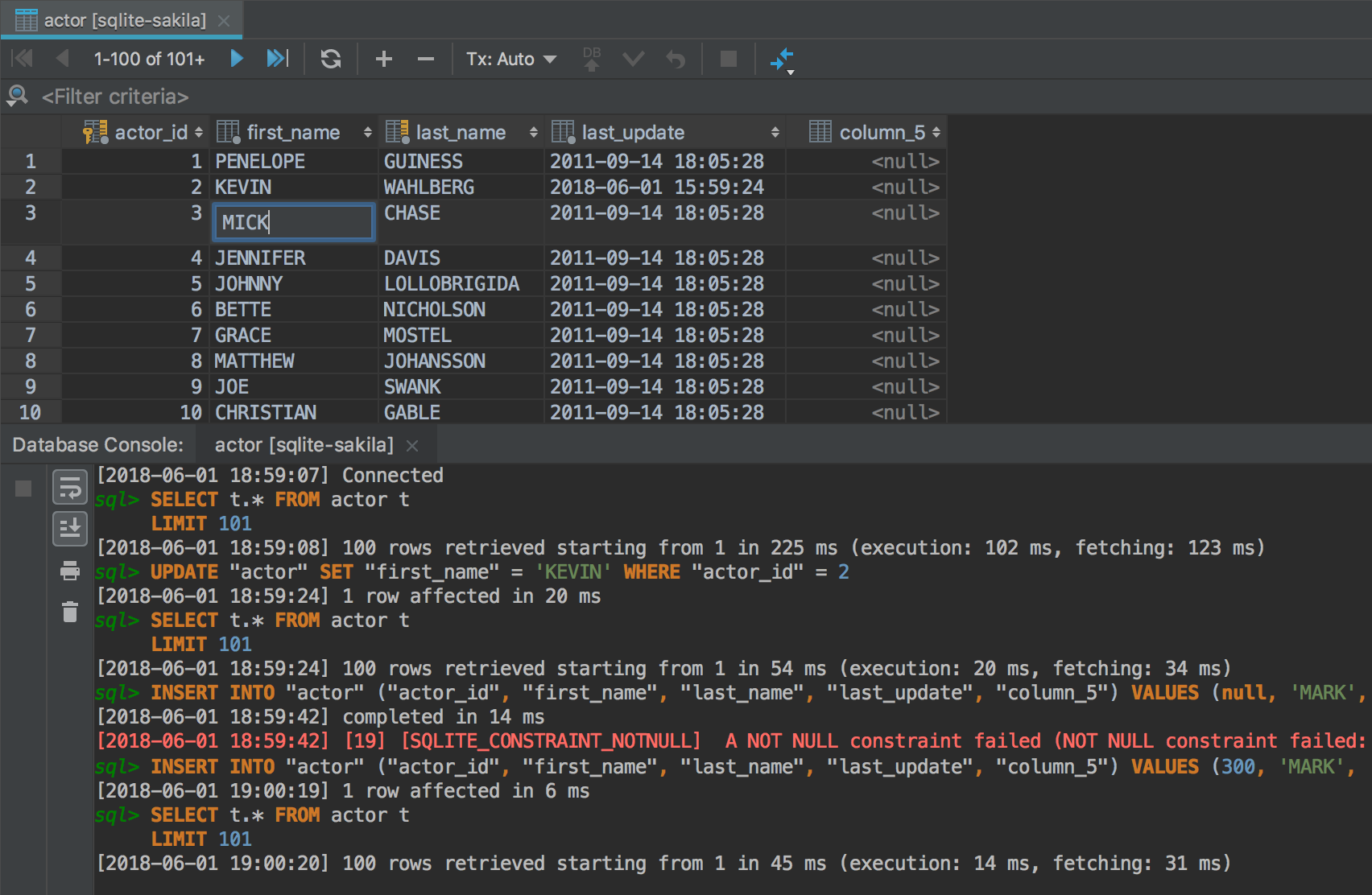 Data editor with text search & data filtering - Features