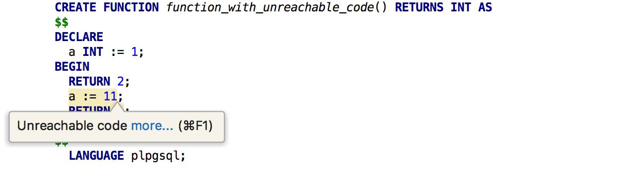 Unreachable code