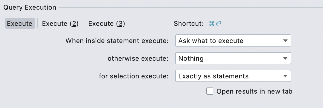 Easy navigation to Execute settings
