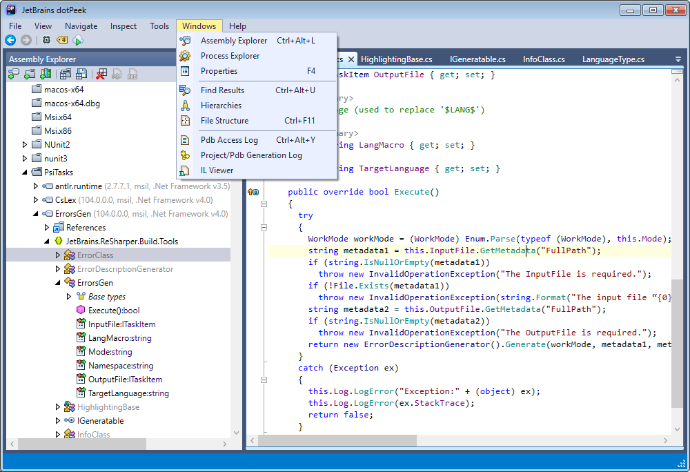 dotPeek can decompile any .NET assemblies