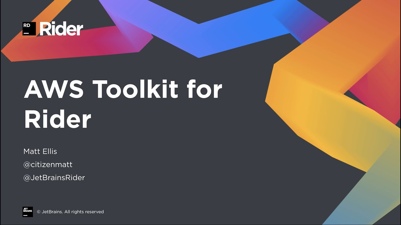 Introducing the AWS Toolkit for Rider