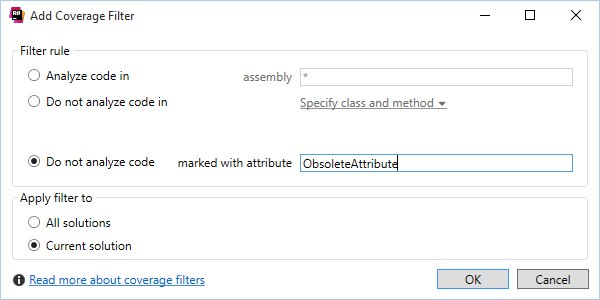 Attribute filters complement coverage filters