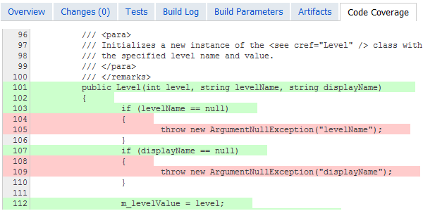 Code coverage highlighting in TeamCity as part of Continuous Integration