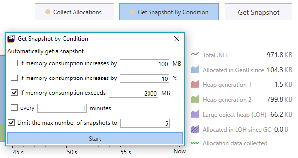 Get snapshots automatically