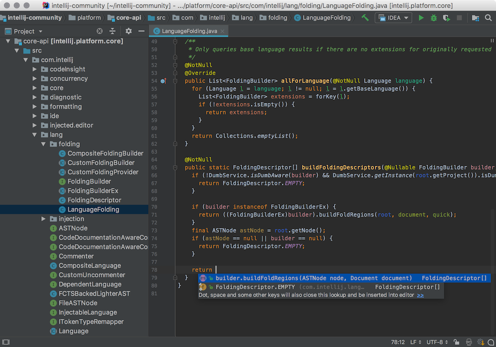 IntelliJ IDEA Community Edition, intellij ide for java