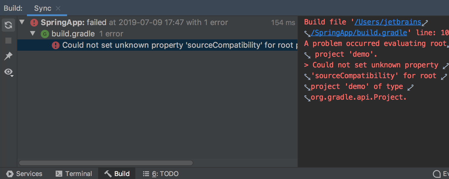Gradle task output is improved