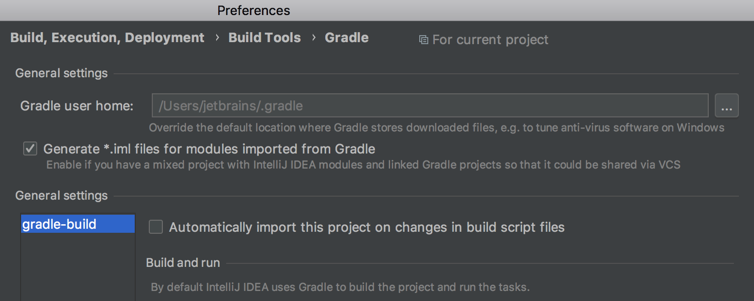 Working with Gradle settings gets easier