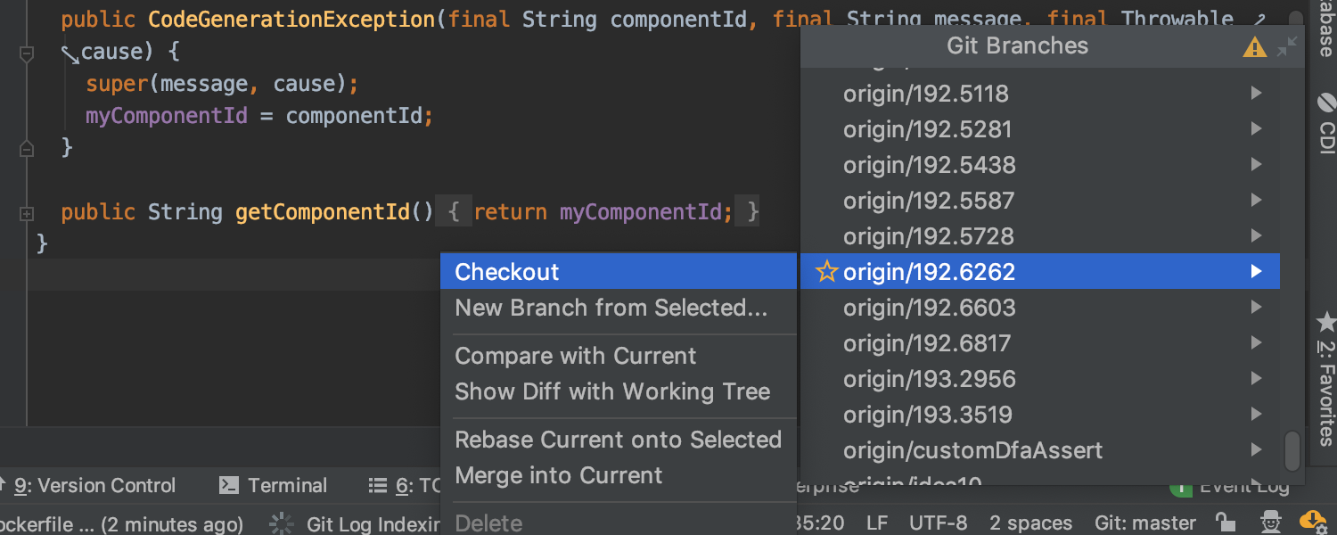 Improved Git checkout workflow