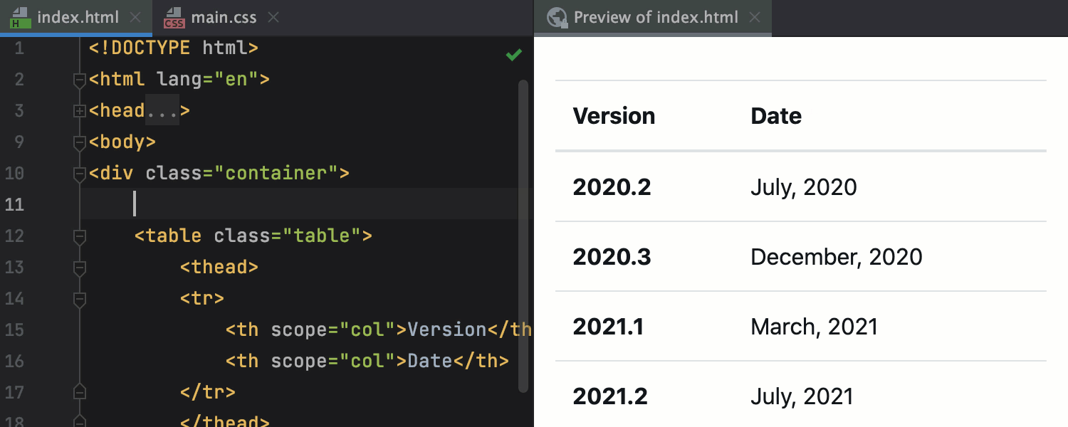 Editor HTML Preview