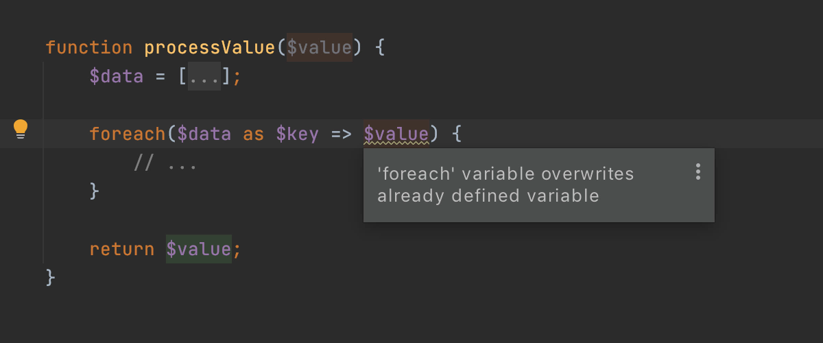 `foreach` variable overwrites already defined variable