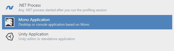 Profiling Mono and Unity applications
