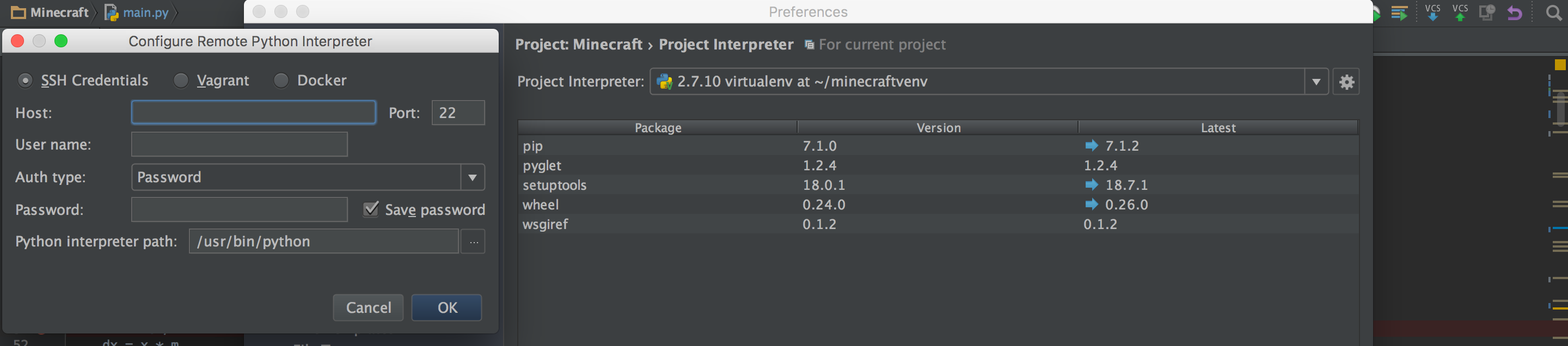 no python interpreter configured for the project pycharm