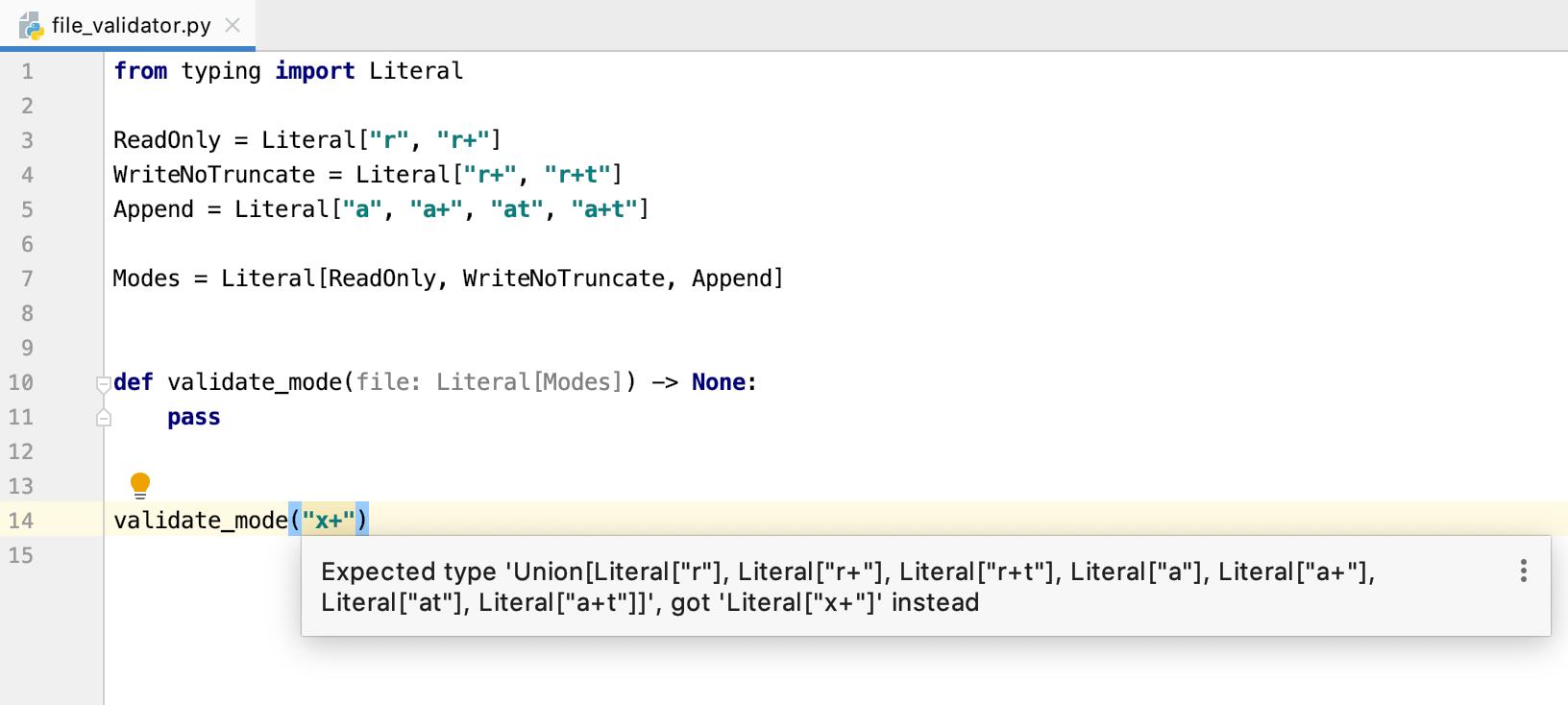 Python 3.8:文字类型注释