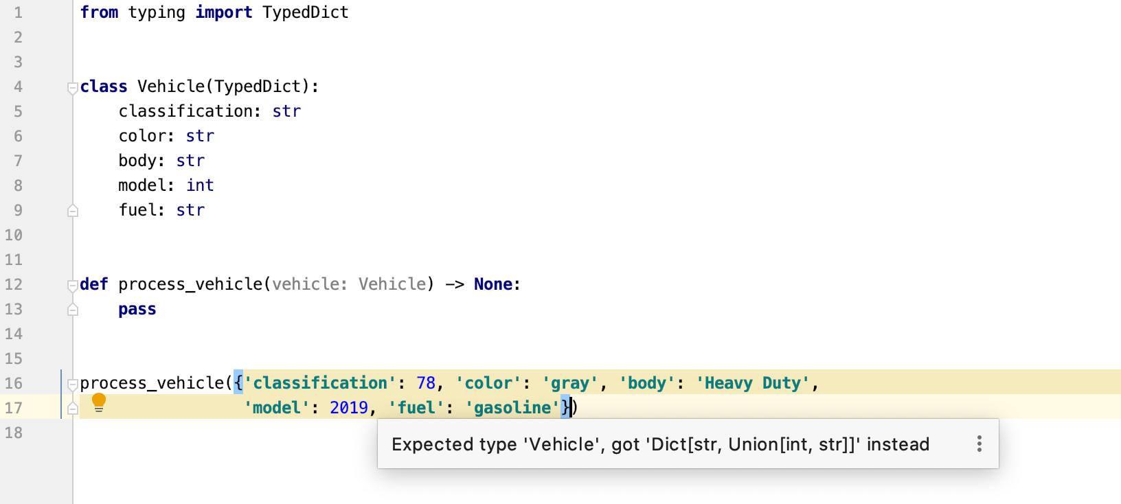 Python 3.8:TypedDicts