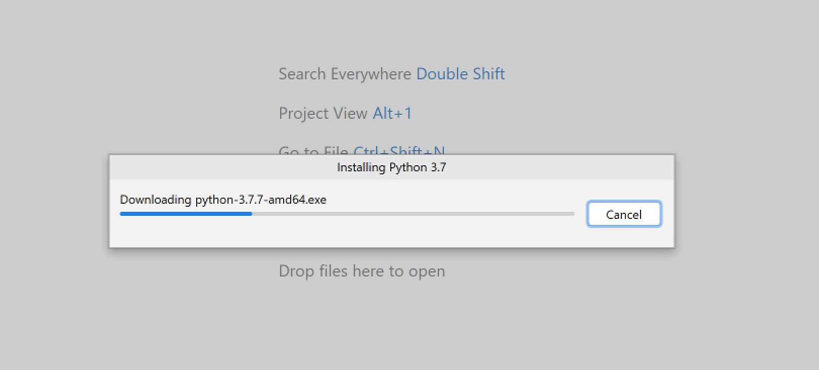 Install Python from PyCharm