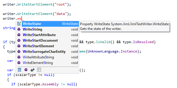 Symbol code completion in C# with CamelHumps support