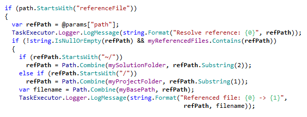 C# syntax highlighting