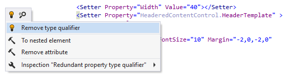 Fixing redundant type qualifier in XAMLd