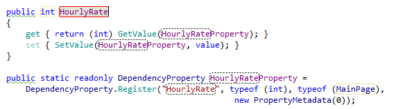 Invoking template for a dependency property