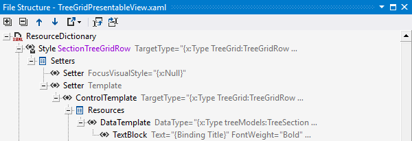 File Structure for XAML files