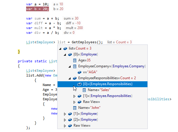 Debugger features in ReSharper