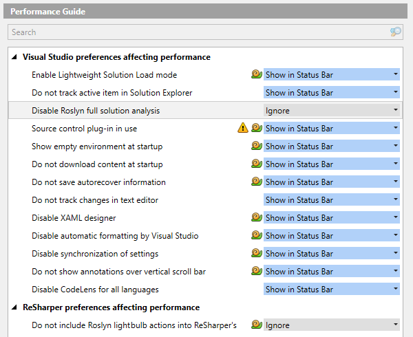 The Performance Guide page