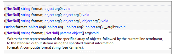 Colored Parameter Info popup and Summary tooltip for IntelliSense