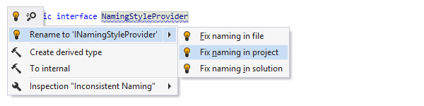 Extended naming style configuration