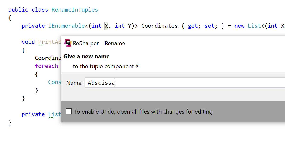 Rename tuple components