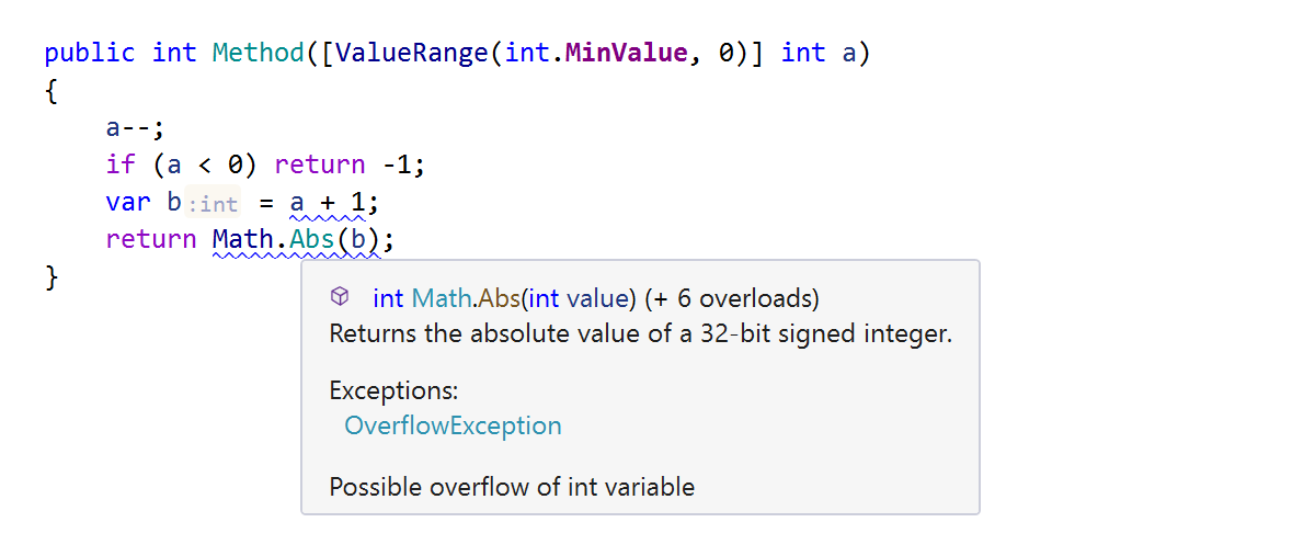 Dataflow analysis of integer values in C#