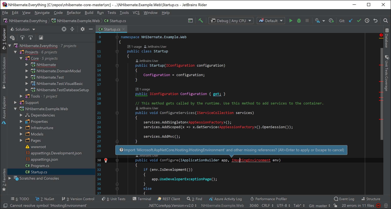 .NET code editor in JetBrains Rider