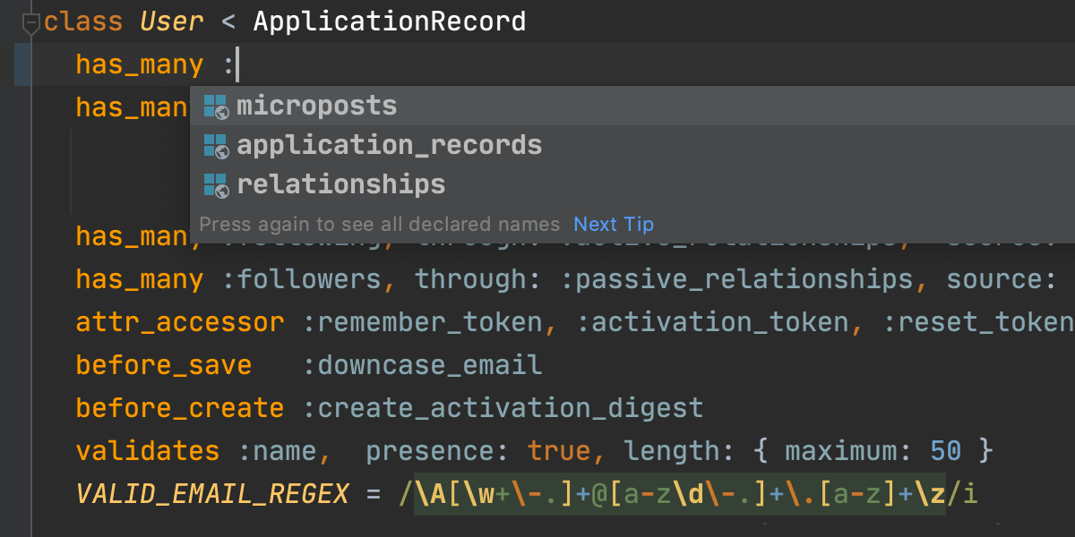 Rails code example ruby on Modern Websites