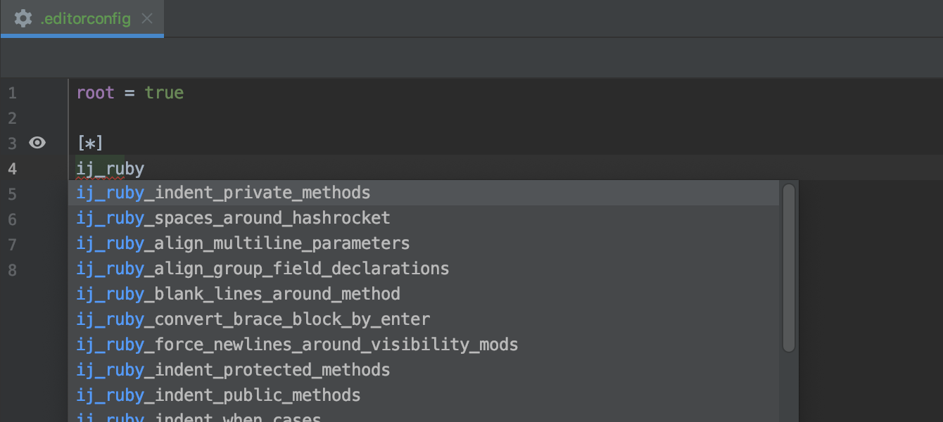 Edit code style configurations