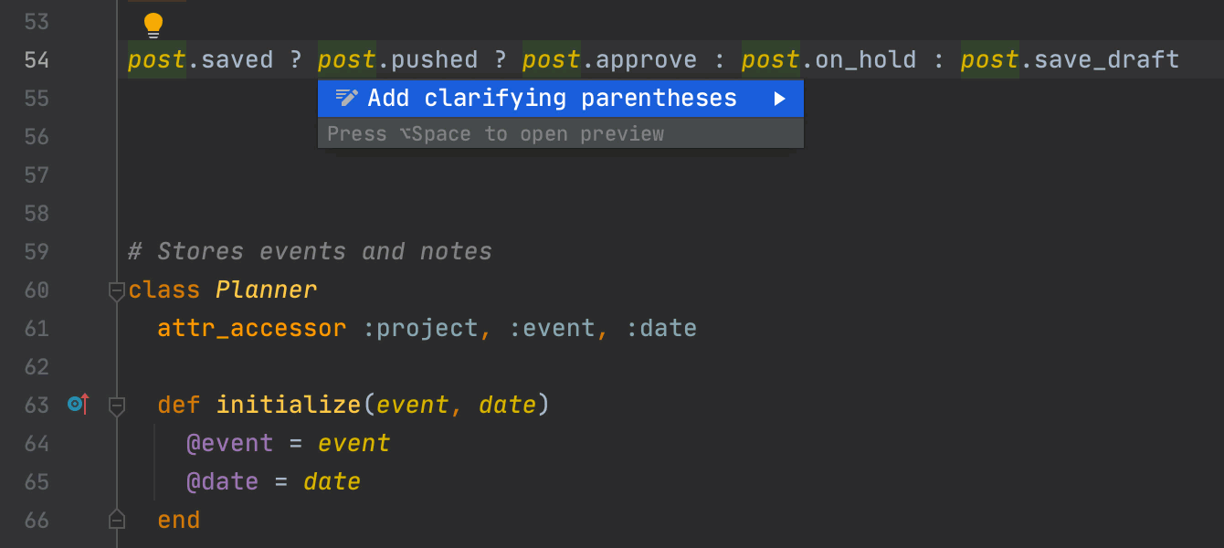 Add/remove clarifying parentheses