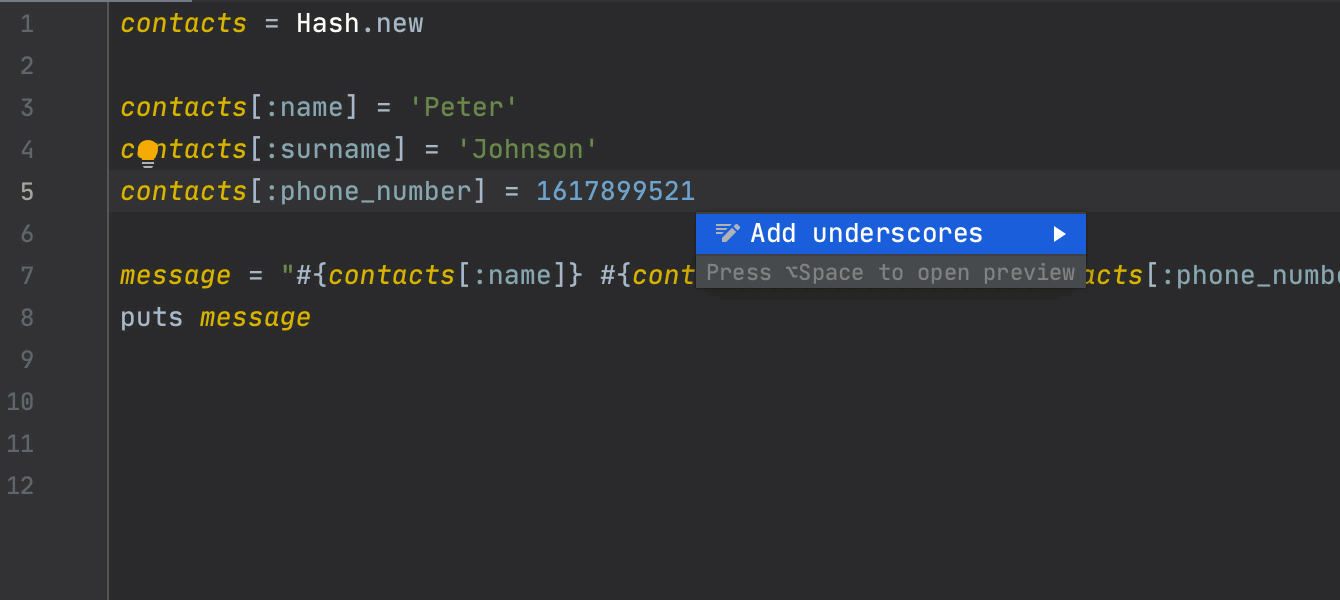 Add/remove underscores in numbers
