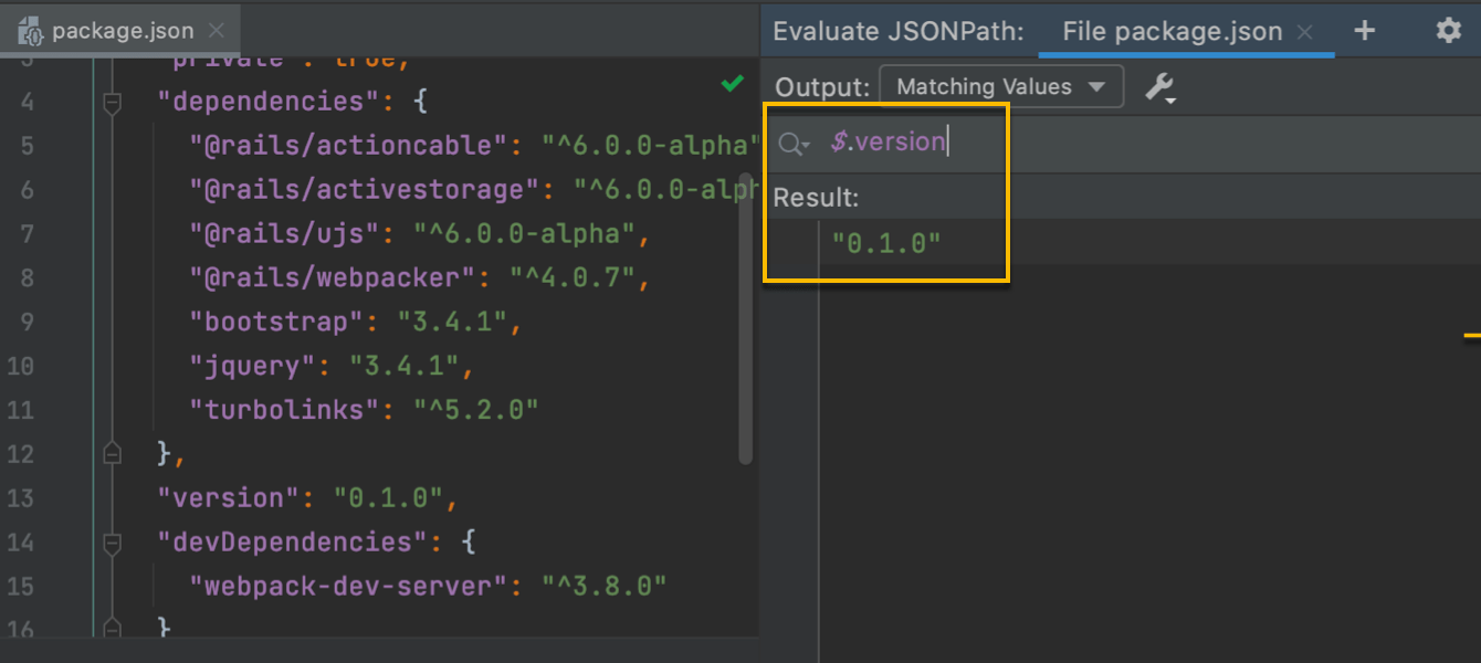 JSONPath support