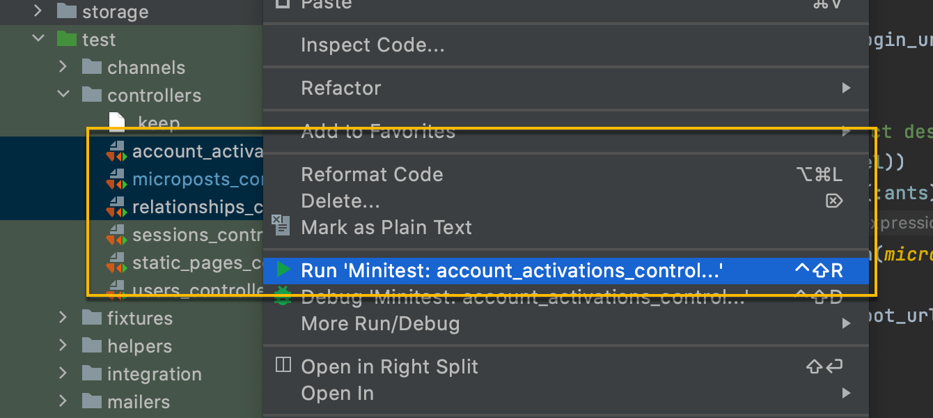Run multiple tests in a run configuration