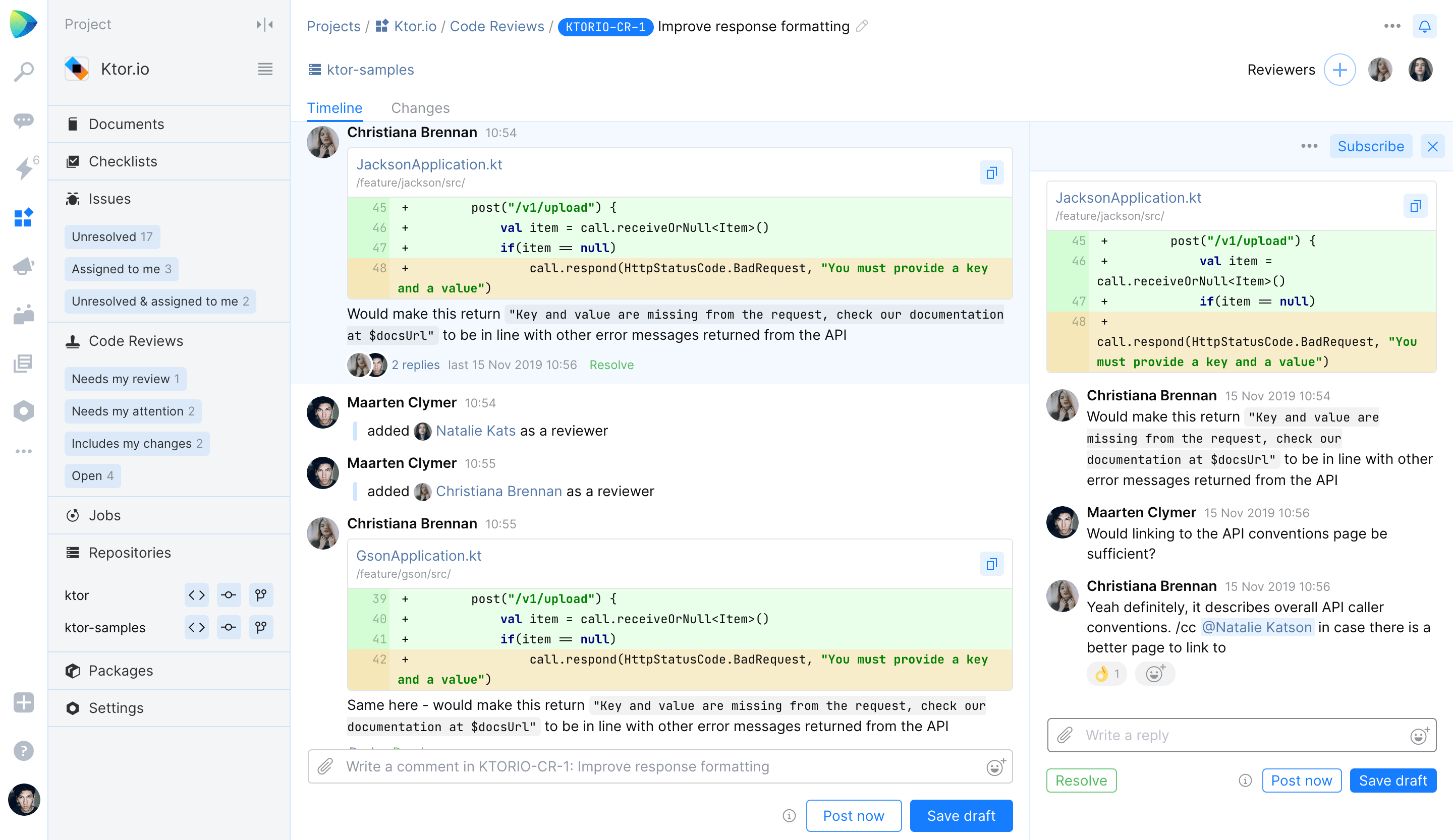 Ping-pong code review process