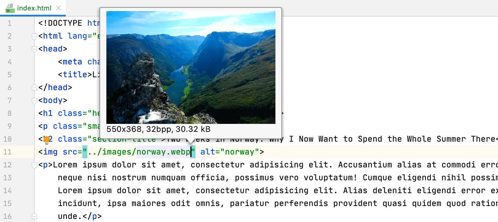 Preview WebP images in the IDE