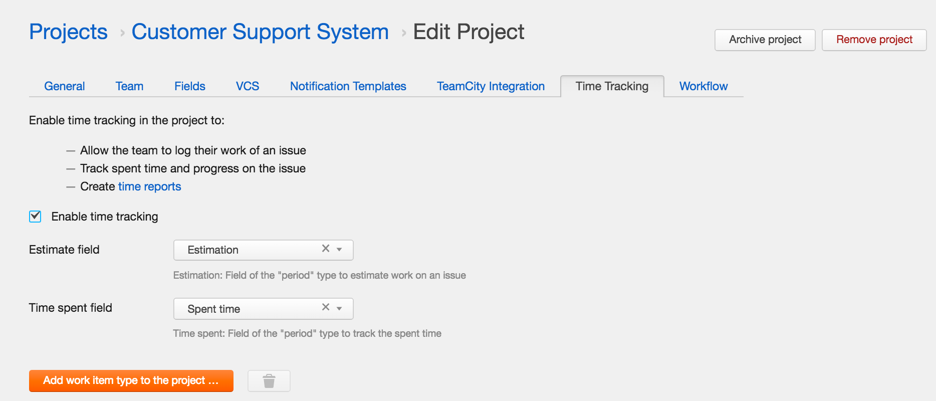time management youtrack totals for your tasks on the agile board by enabling time tracking for your project you ll get the total estimation spent time for the whole sprint