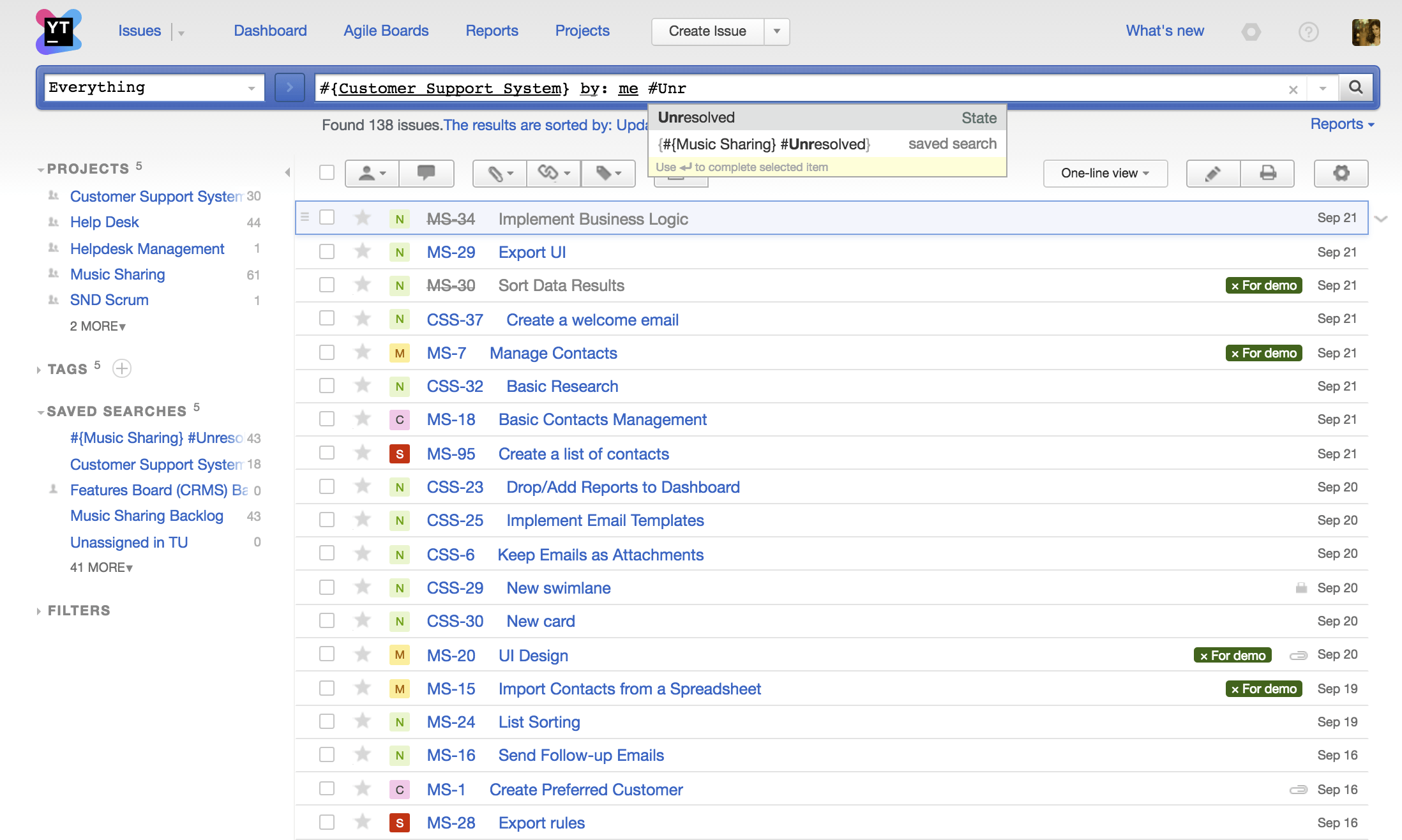 youtrack the issue tracking and project management tool for