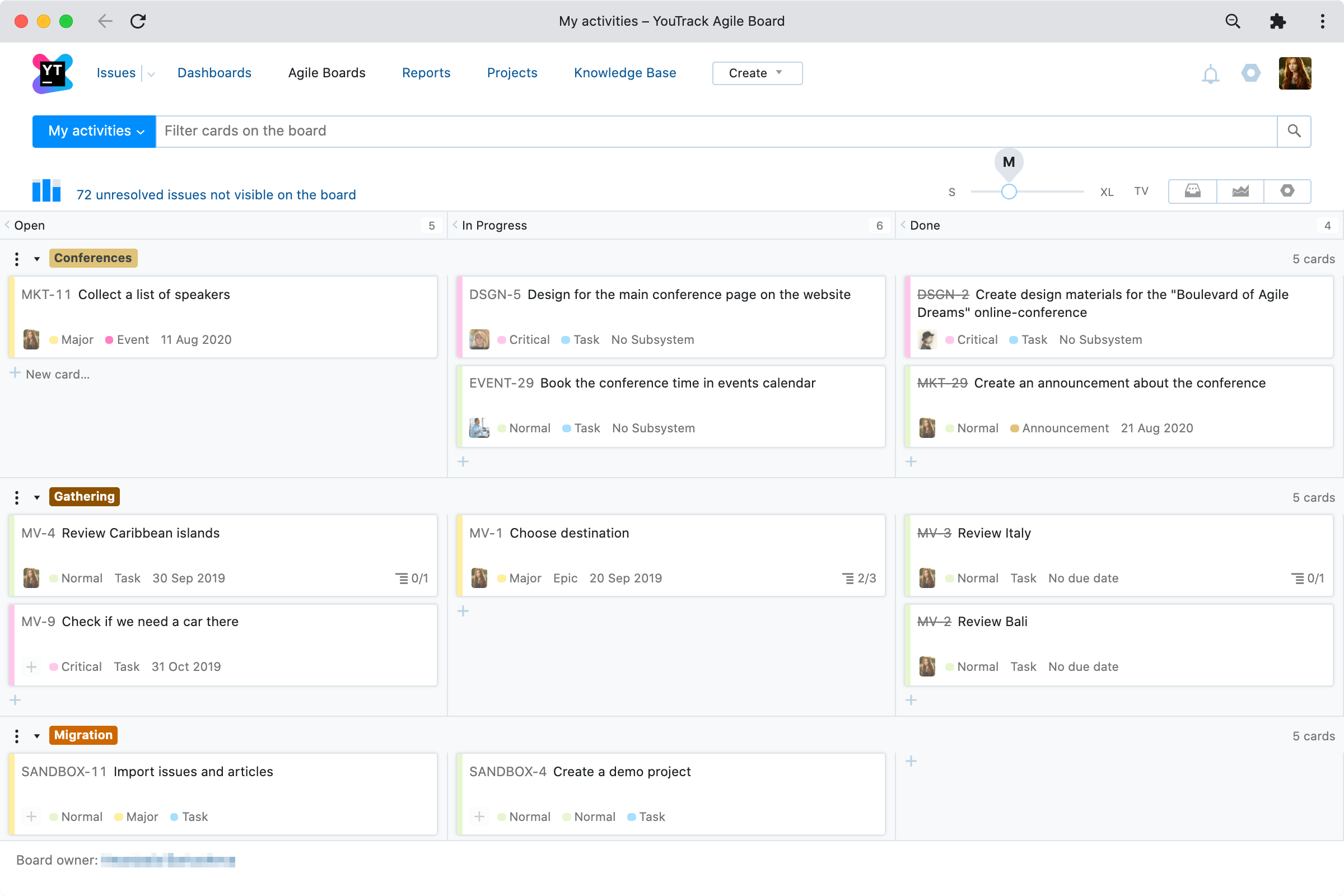 Enhancements for fans of Agile Boards