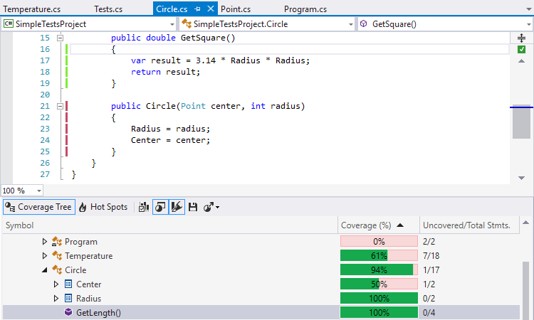 Seamless integration with Visual Studio