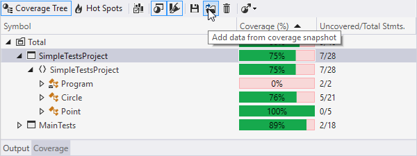 Code coverage improvements