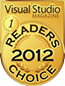 Visual Studio Magazine Readers Choice Award 2012 logo