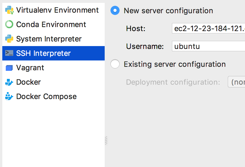 New Interpreter Chooser