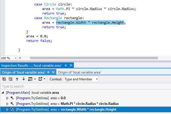C# 7 features comes to value tracking